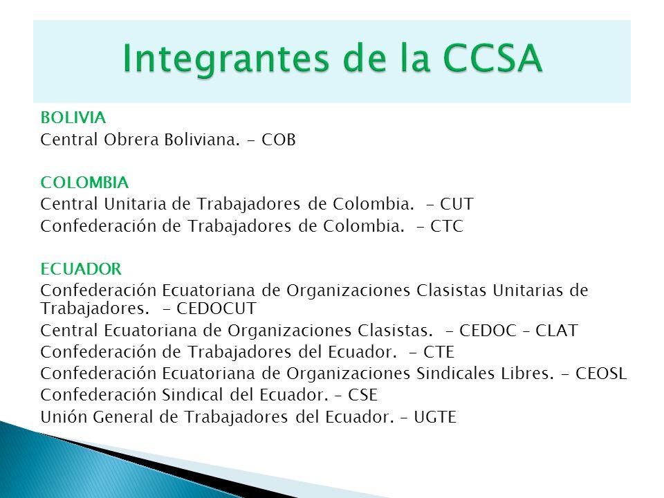 Integrantes de la CCSA