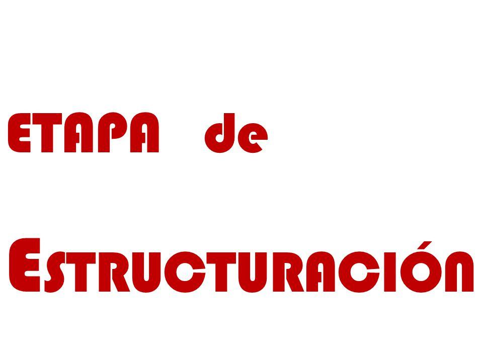 ETAPA de ESTRUCTURACIÓN