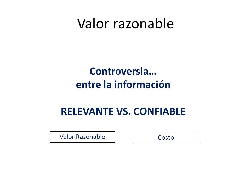 RELEVANTE VS. CONFIABLE