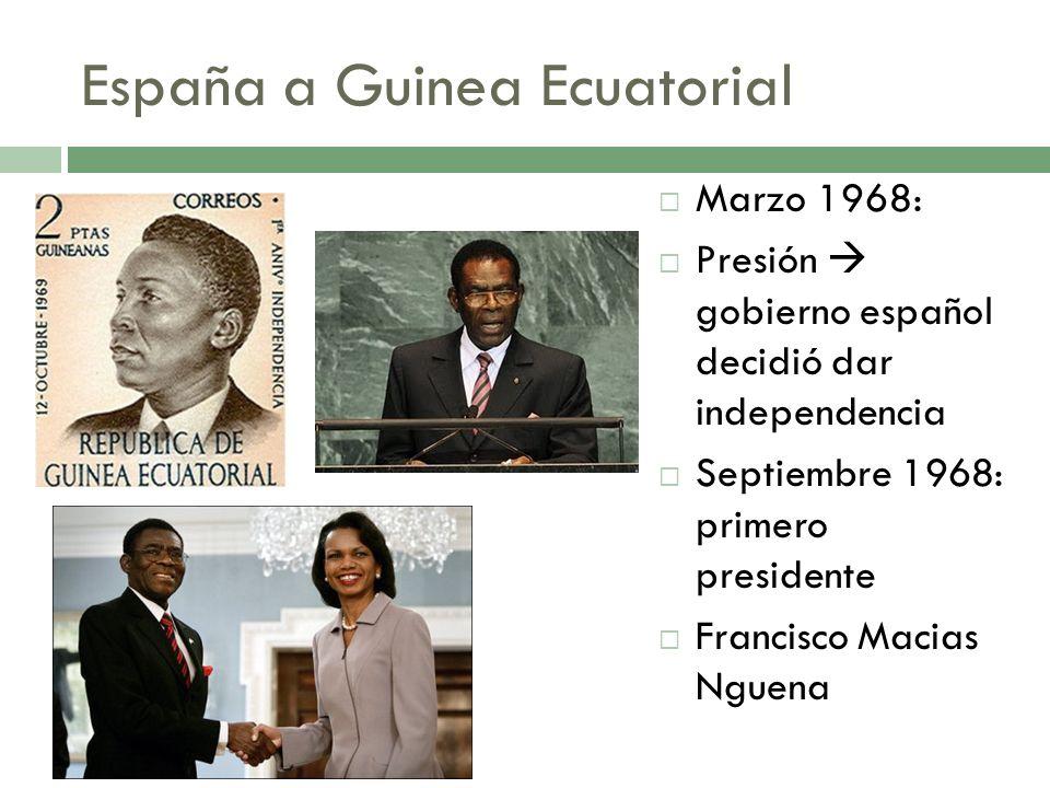 España a Guinea Ecuatorial