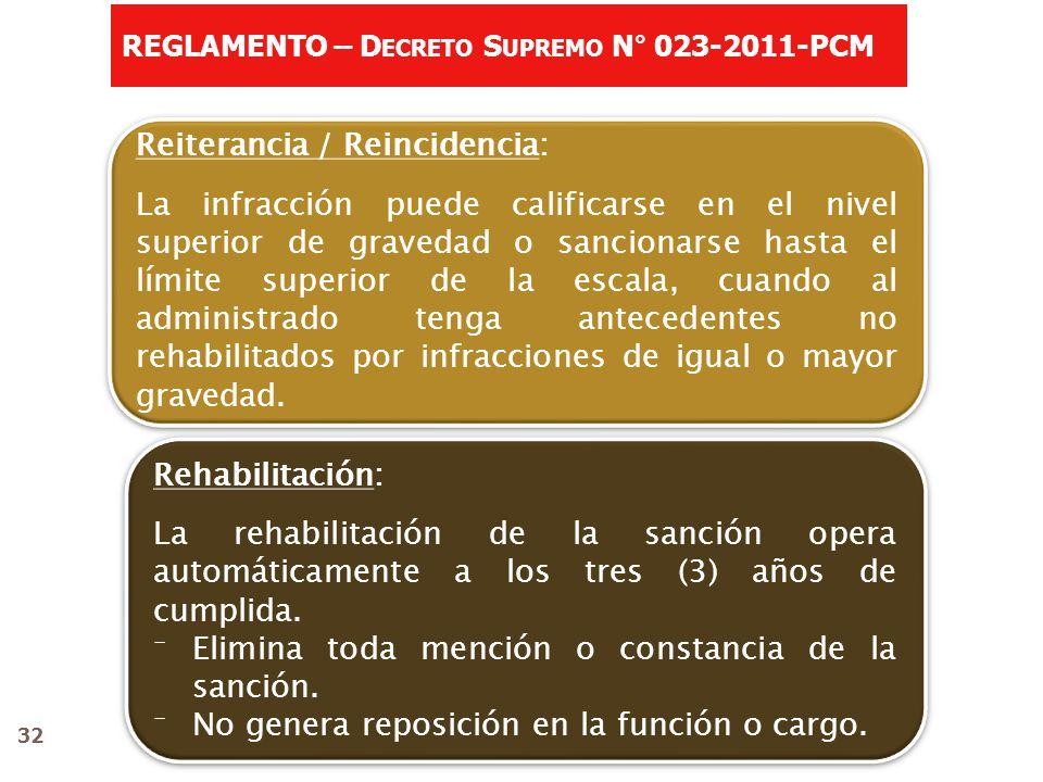 Reiterancia / Reincidencia: