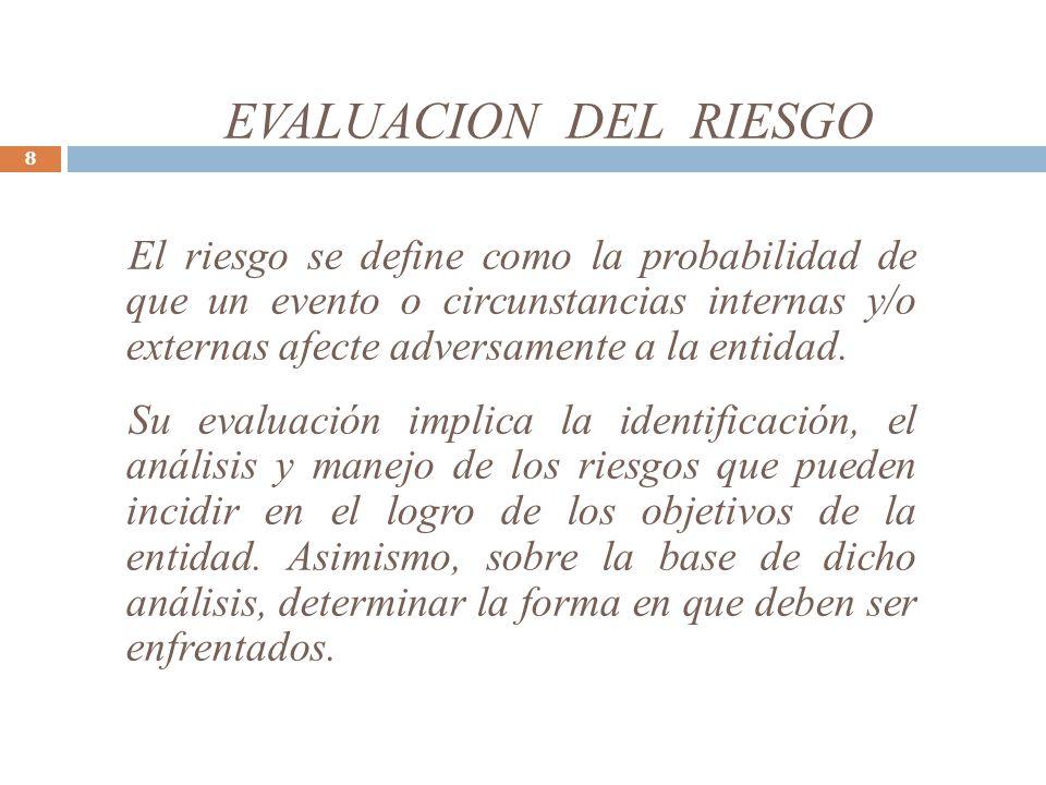 EVALUACION DEL RIESGO