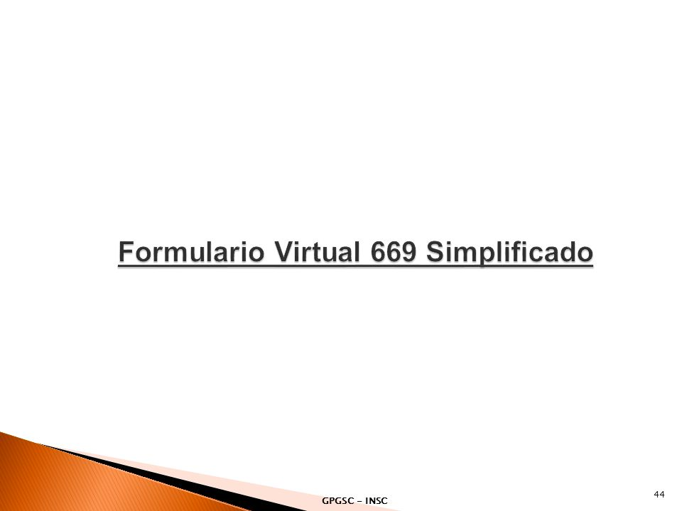 Formulario Virtual 669 Simplificado