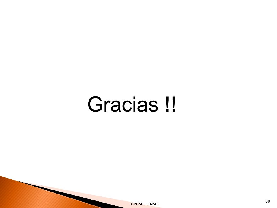 Gracias !! GPGSC - INSC