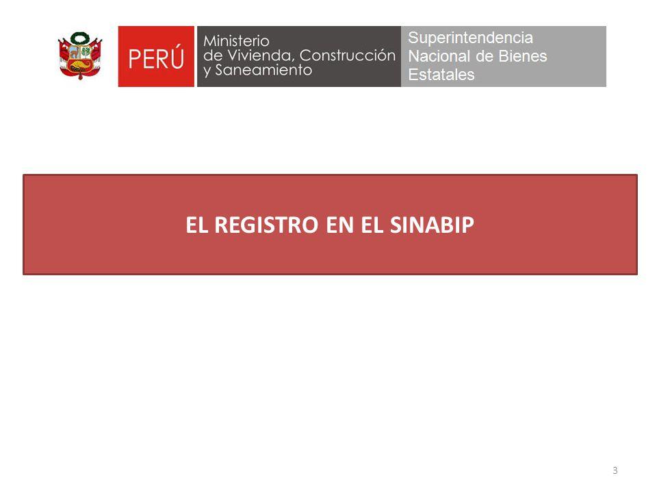 EL REGISTRO EN EL SINABIP