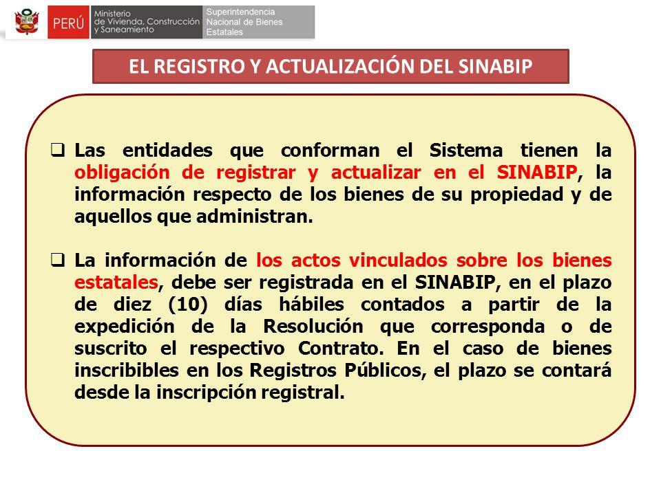 EL REGISTRO Y ACTUALIZACIÓN DEL SINABIP