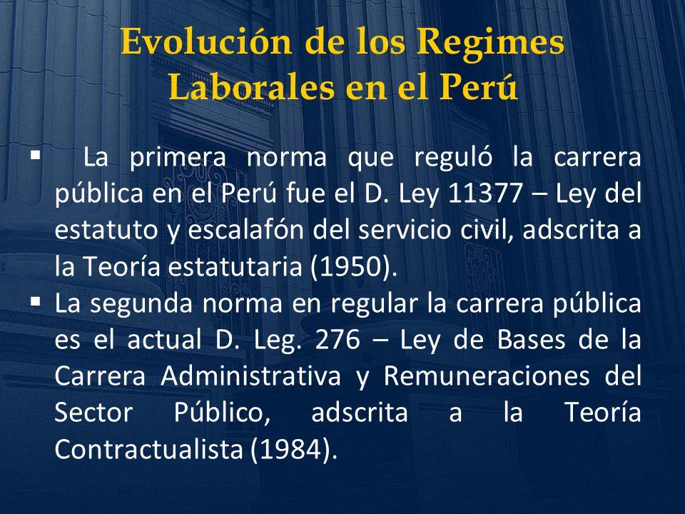 Evolución de los Regimes Laborales en el Perú