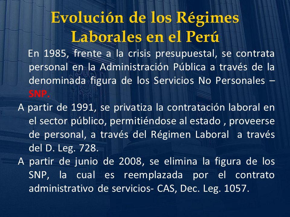 Evolución de los Régimes Laborales en el Perú