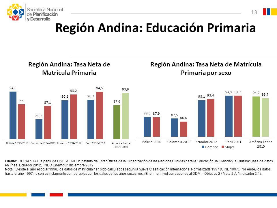 Región Andina: Educación Primaria