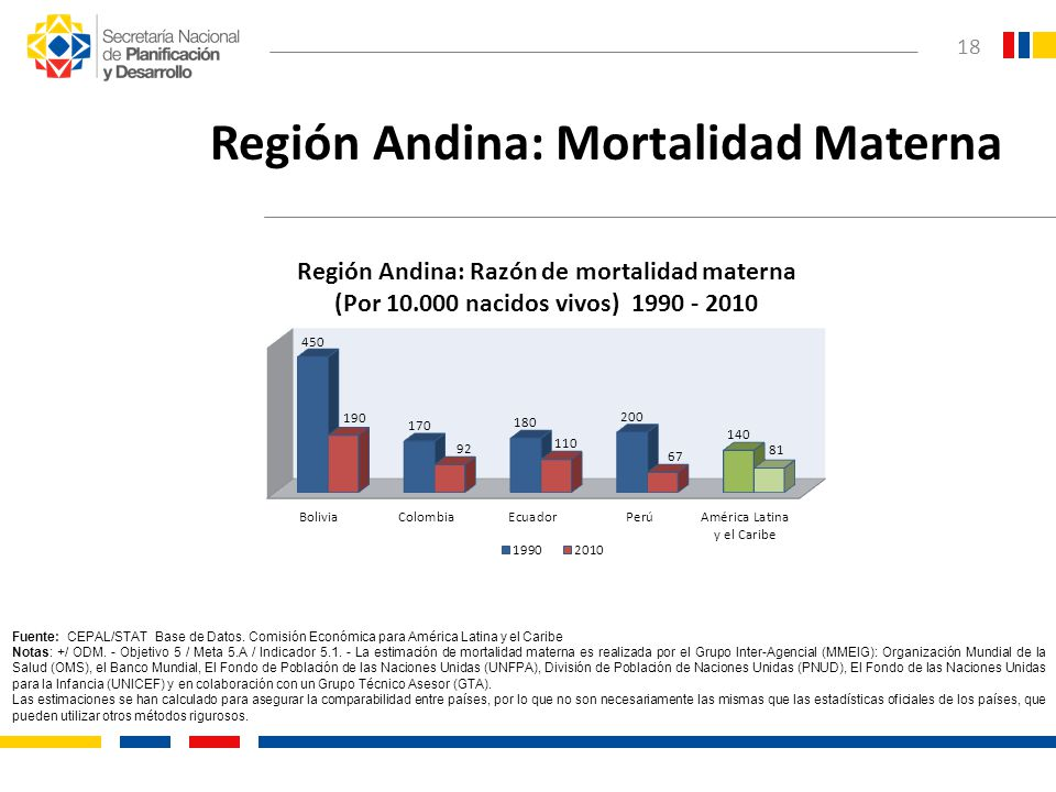 Región Andina: Mortalidad Materna