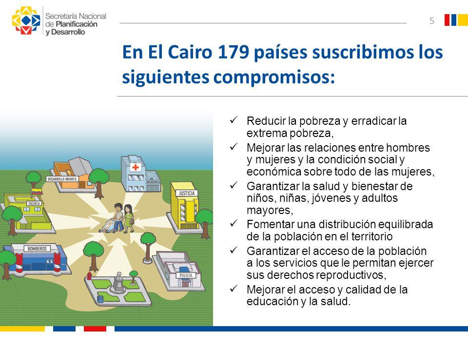 En El Cairo 179 países suscribimos los siguientes compromisos: