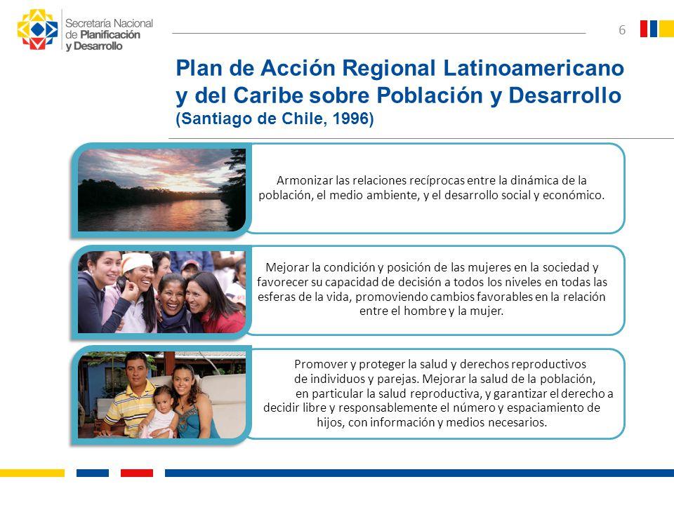 Plan de Acción Regional Latinoamericano y del Caribe sobre Población y Desarrollo (Santiago de Chile, 1996)