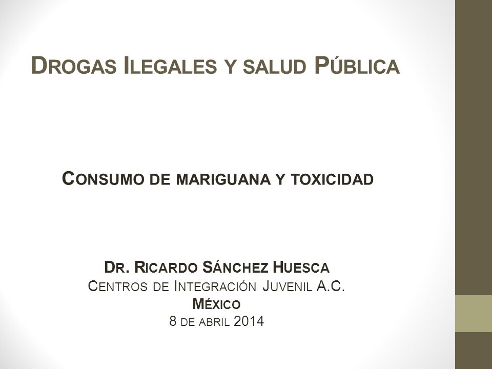 Drogas Ilegales y salud Pública