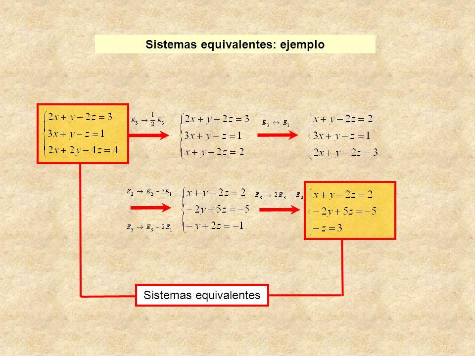 Sistemas equivalentes: ejemplo