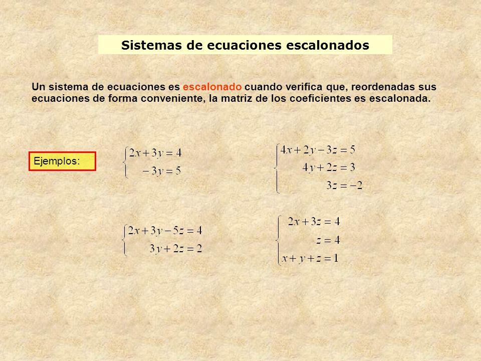 Sistemas de ecuaciones escalonados