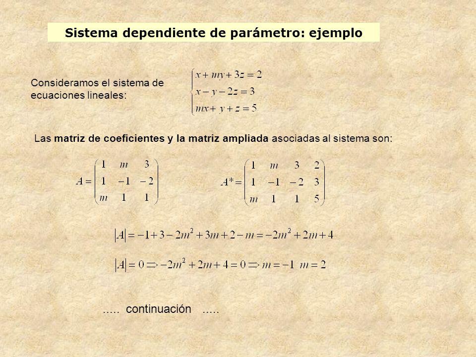 Sistema dependiente de parámetro: ejemplo