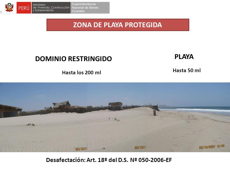 ZONA DE PLAYA PROTEGIDA