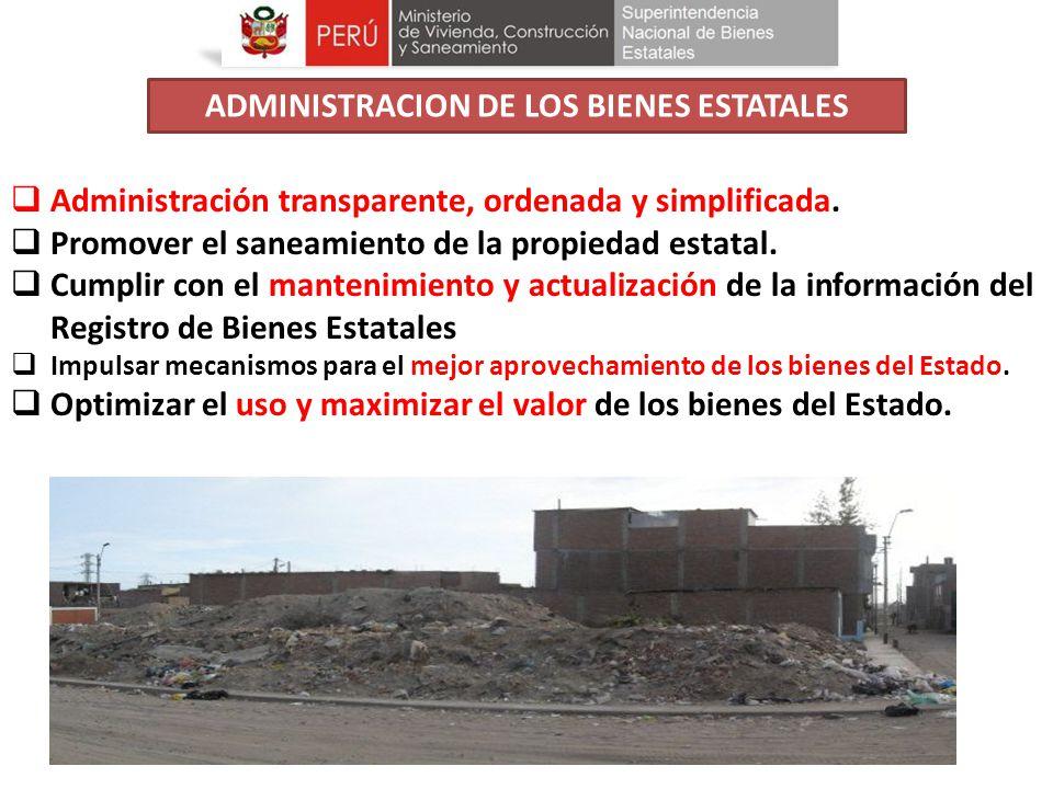 ADMINISTRACION DE LOS BIENES ESTATALES