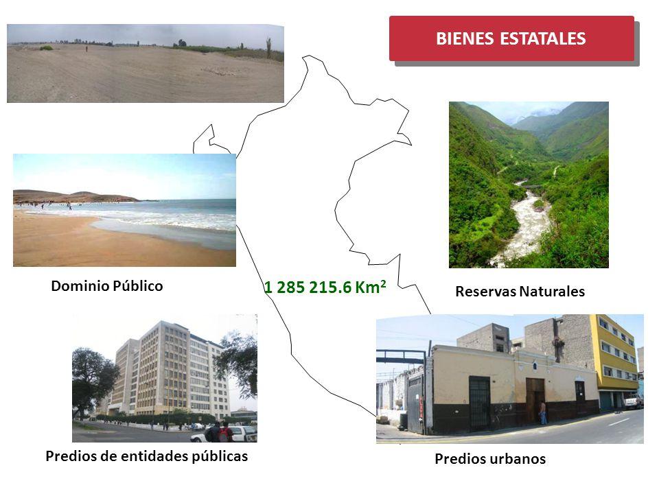 BIENES ESTATALES 1 285 215.6 Km2 Terrenos Eriazos Dominio Público