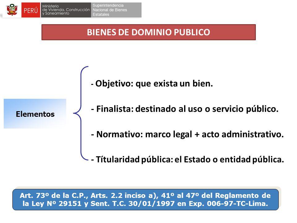 BIENES DE DOMINIO PUBLICO
