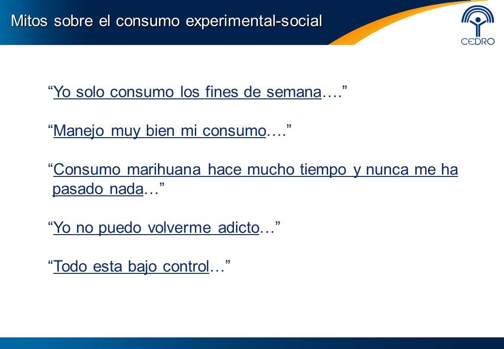Mitos sobre el consumo experimental-social
