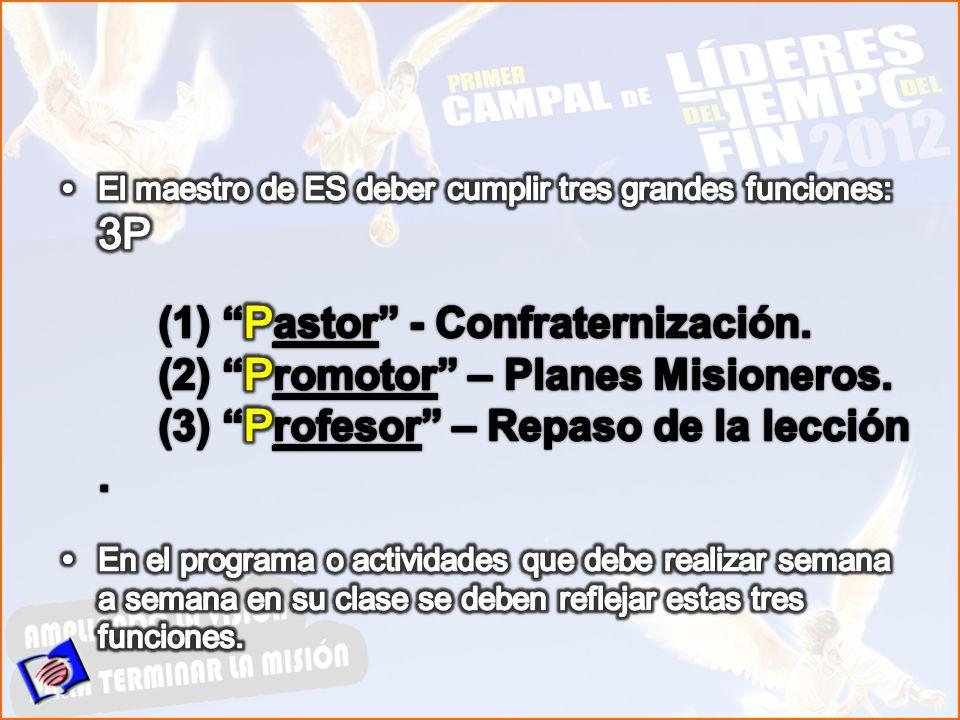 (2) Promotor – Planes Misioneros.