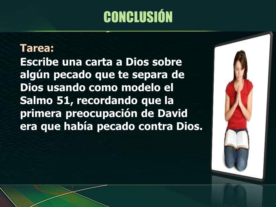 CONCLUSIÓN Tarea: