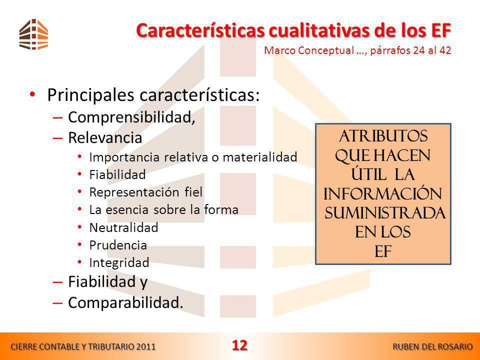 Características cualitativas de los EF Marco Conceptual …, párrafos 24 al 42