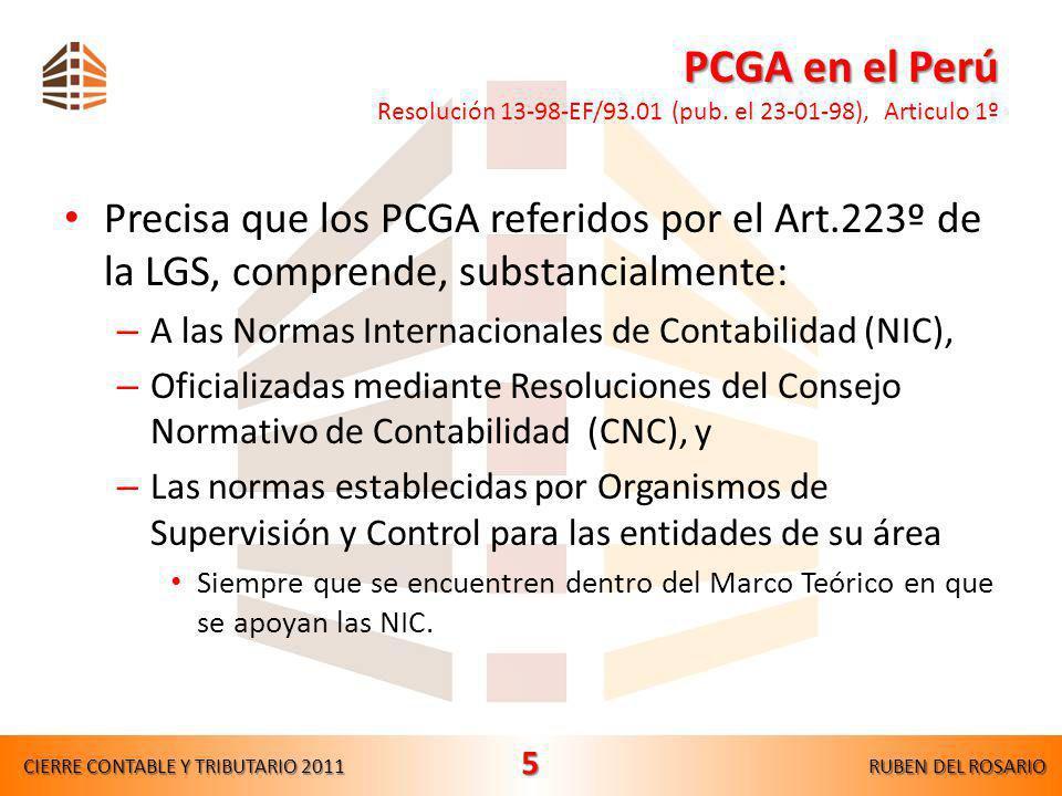 PCGA en el Perú Resolución 13-98-EF/93. 01 (pub
