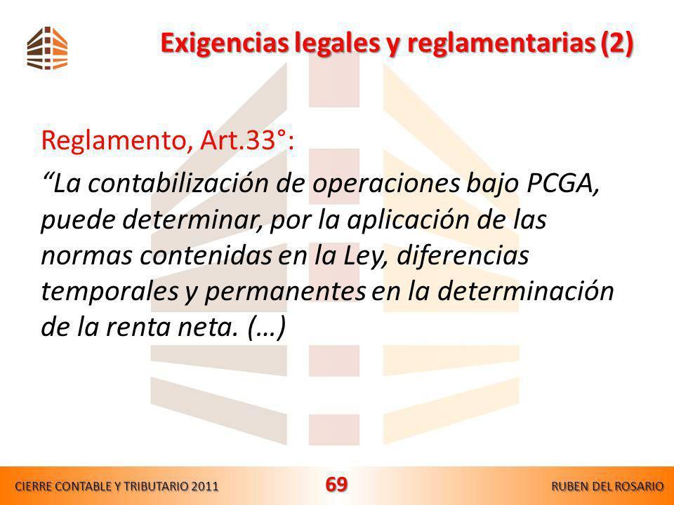 Exigencias legales y reglamentarias (2)