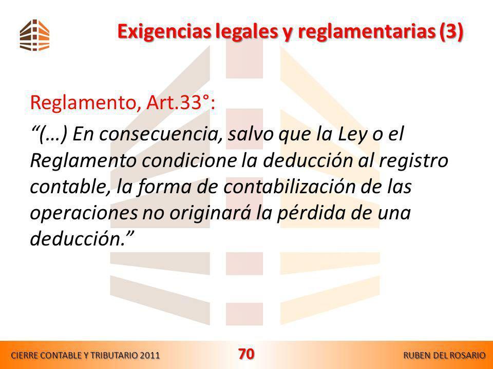 Exigencias legales y reglamentarias (3)