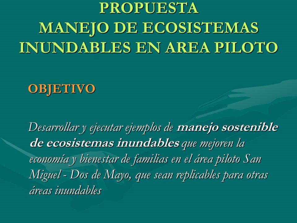 PROPUESTA MANEJO DE ECOSISTEMAS INUNDABLES EN AREA PILOTO