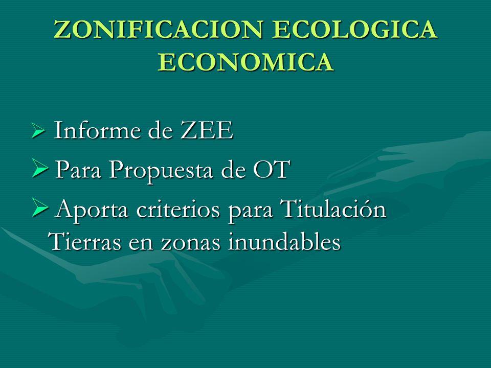 ZONIFICACION ECOLOGICA ECONOMICA