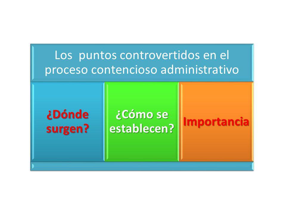 Los puntos controvertidos en el proceso contencioso administrativo