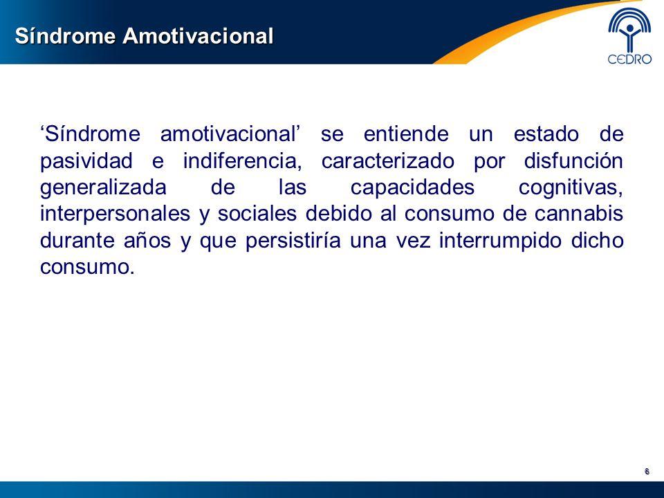 Síndrome Amotivacional