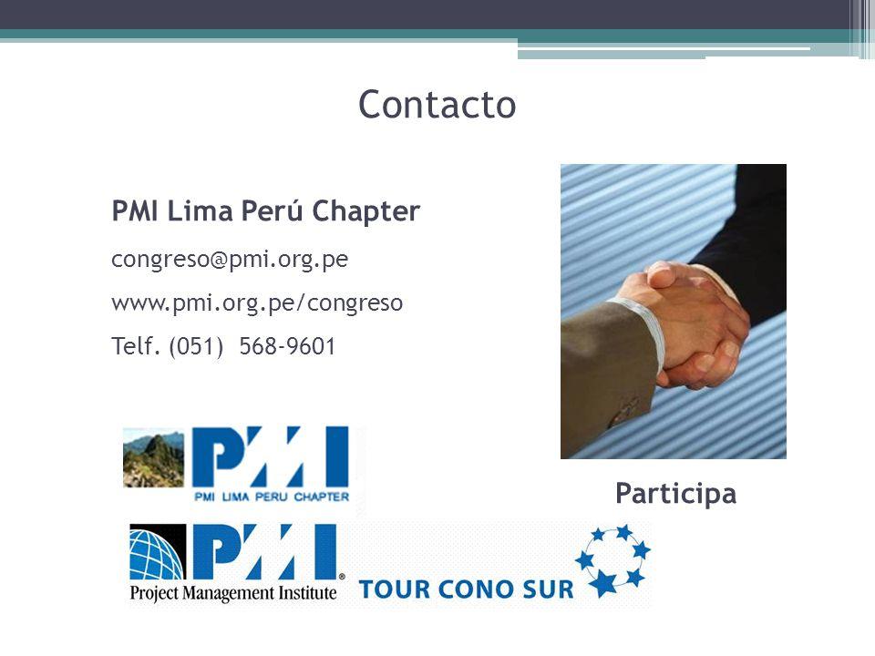 Contacto PMI Lima Perú Chapter Participa congreso@pmi.org.pe