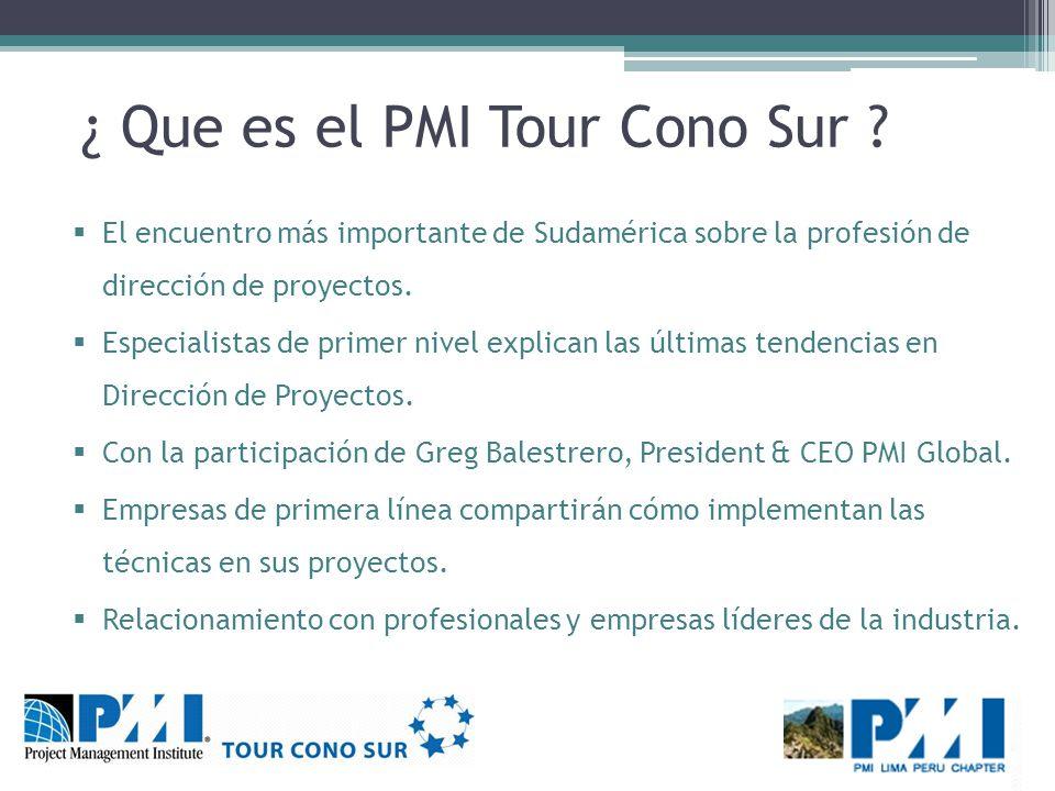 ¿ Que es el PMI Tour Cono Sur