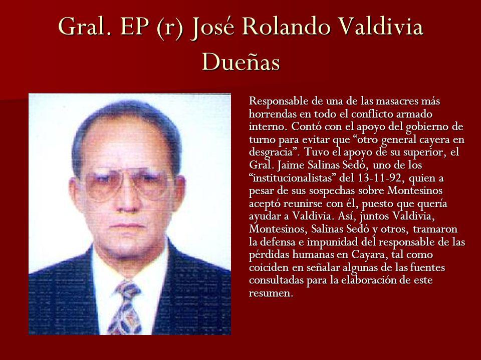 Gral. EP (r) José Rolando Valdivia Dueñas