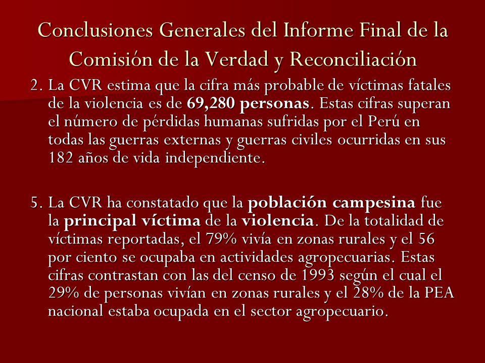 Conclusiones Generales del Informe Final de la Comisión de la Verdad y Reconciliación