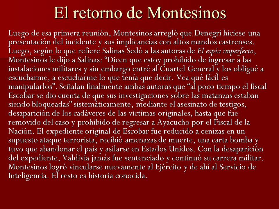 El retorno de Montesinos