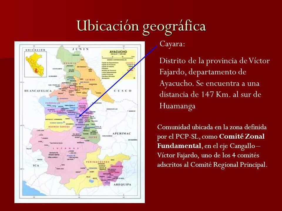 Ubicación geográfica Cayara: