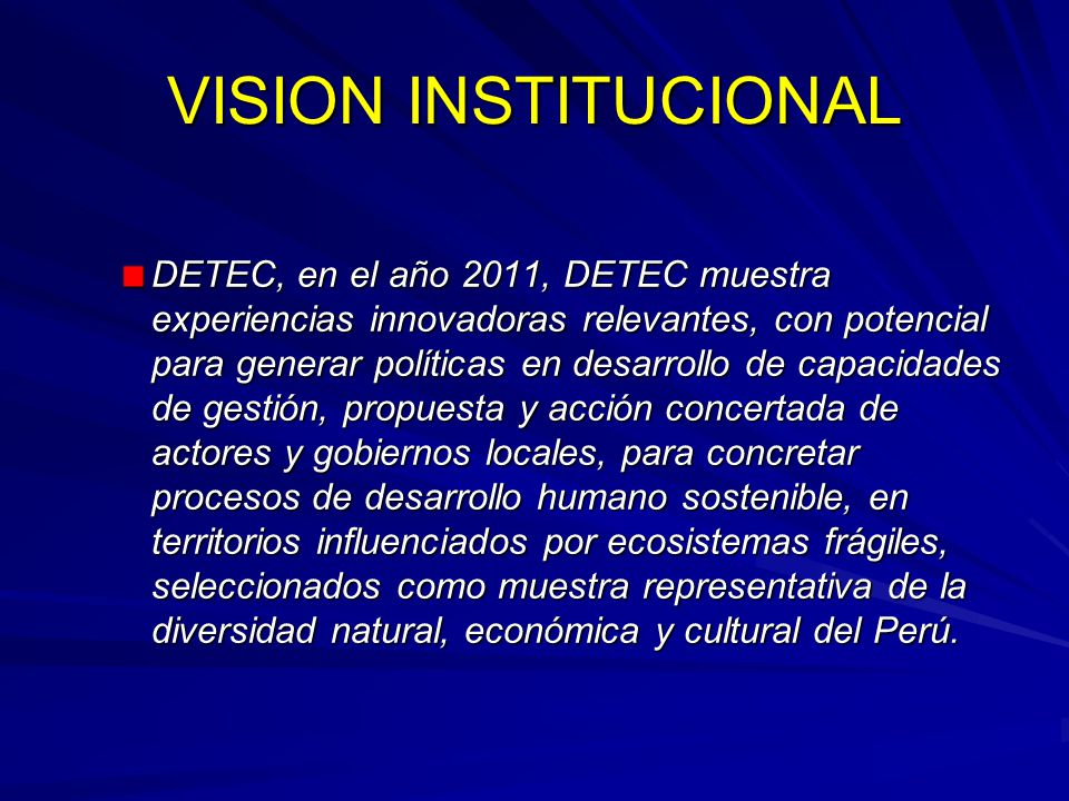 VISION INSTITUCIONAL
