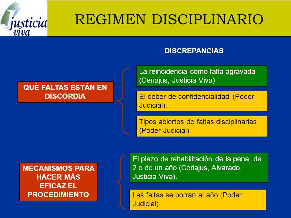 REGIMEN DISCIPLINARIO