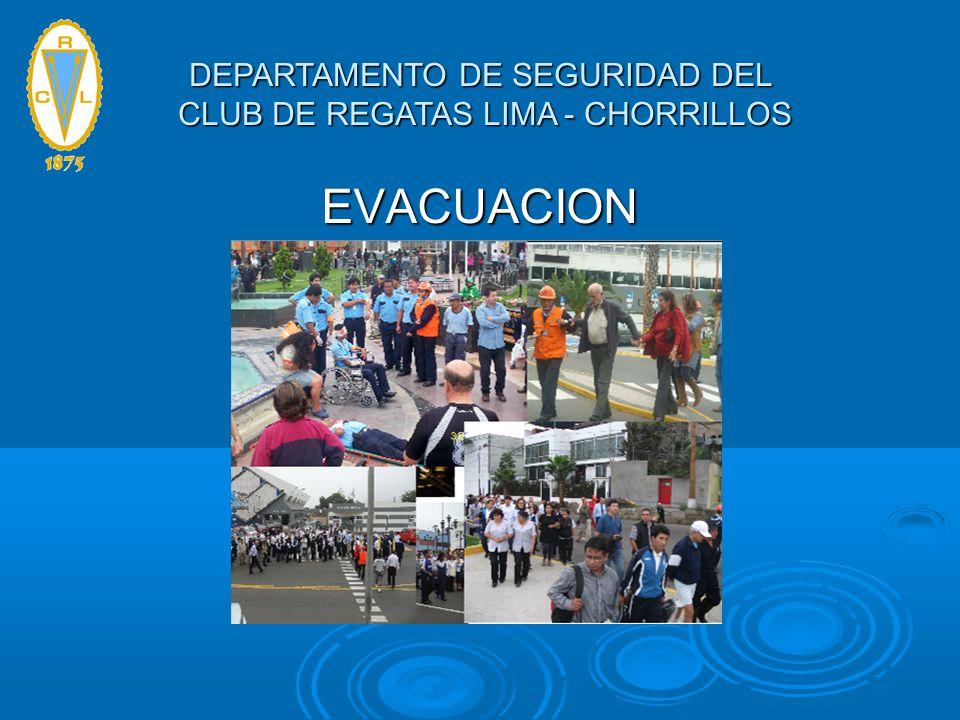 DEPARTAMENTO DE SEGURIDAD DEL CLUB DE REGATAS LIMA - CHORRILLOS