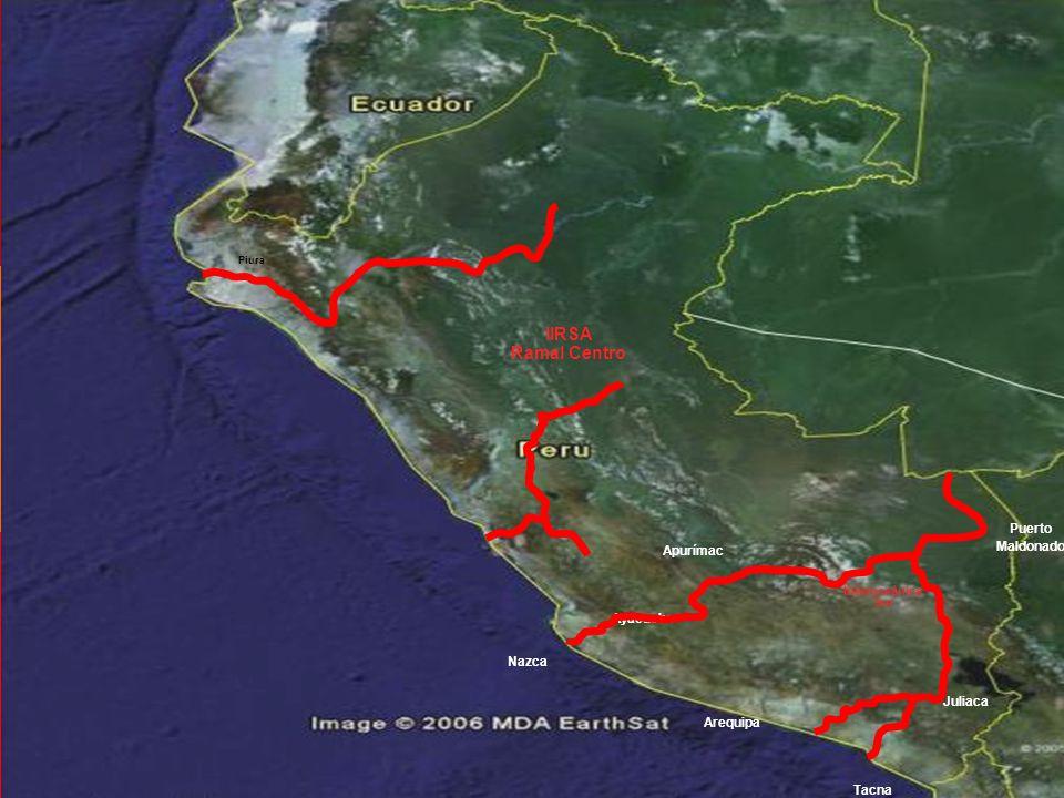 IIRSA Ramal Centro Puerto Maldonado Apurímac Ayacucho Nazca Juliaca