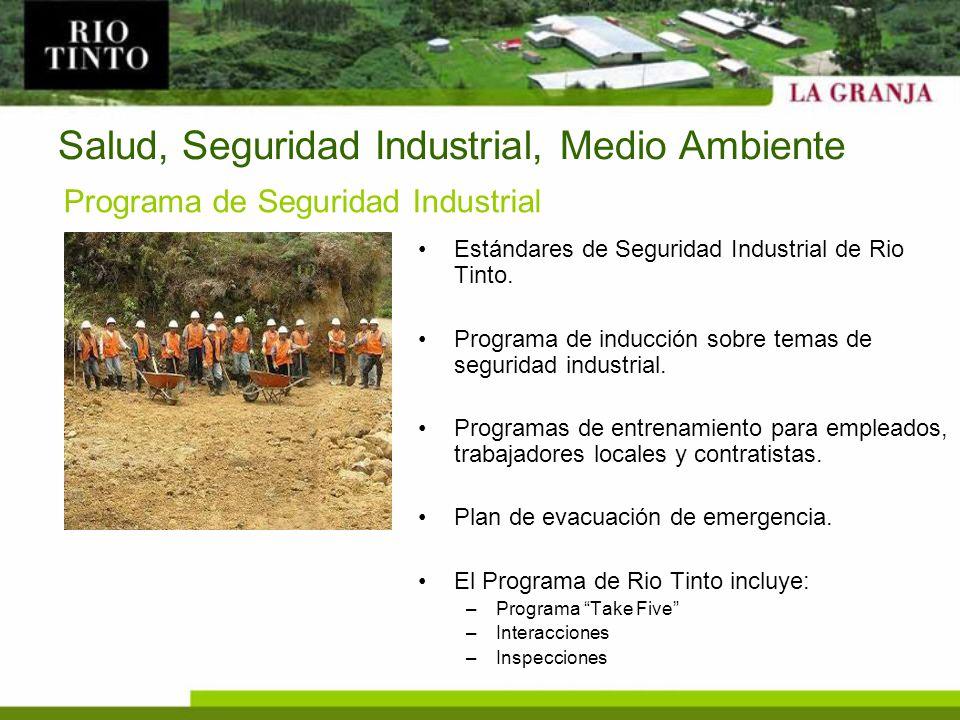 Salud, Seguridad Industrial, Medio Ambiente
