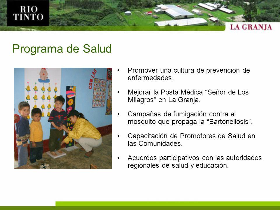Programa de Salud Promover una cultura de prevención de enfermedades.