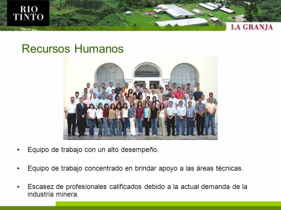 Recursos Humanos Equipo de trabajo con un alto desempeño.
