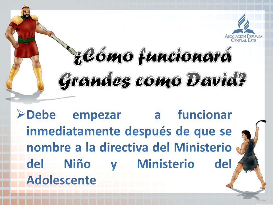 ¿Cómo funcionará Grandes como David