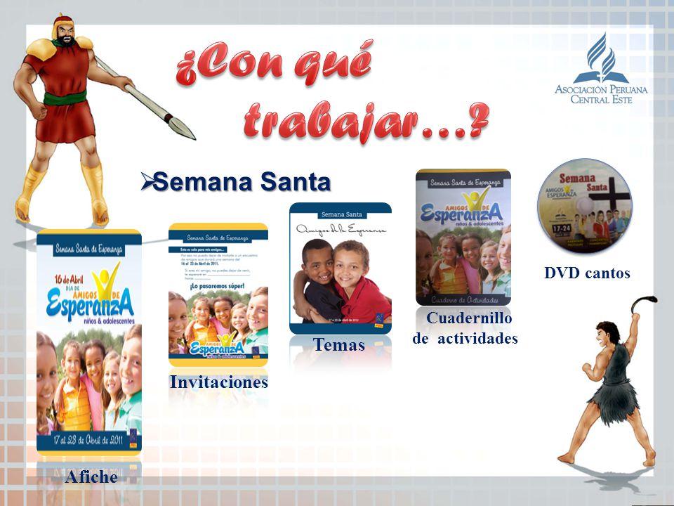 ¿Con qué trabajar… Semana Santa Cuadernillo Temas Invitaciones Afiche
